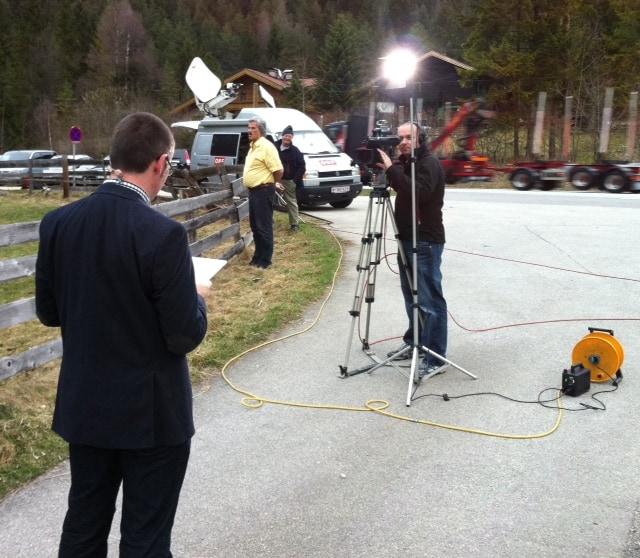 Foto11 - Live vor Ort für den ORF beim Hubschrauberabsturz