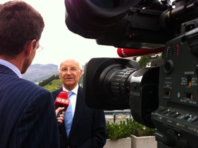 Bericht mit Herrn Stoiber in Obergurgl