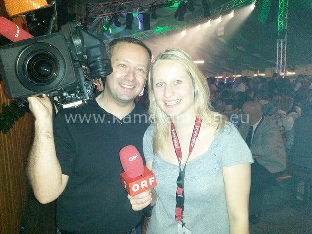 ORF Dreharbeiten am Gaudafest