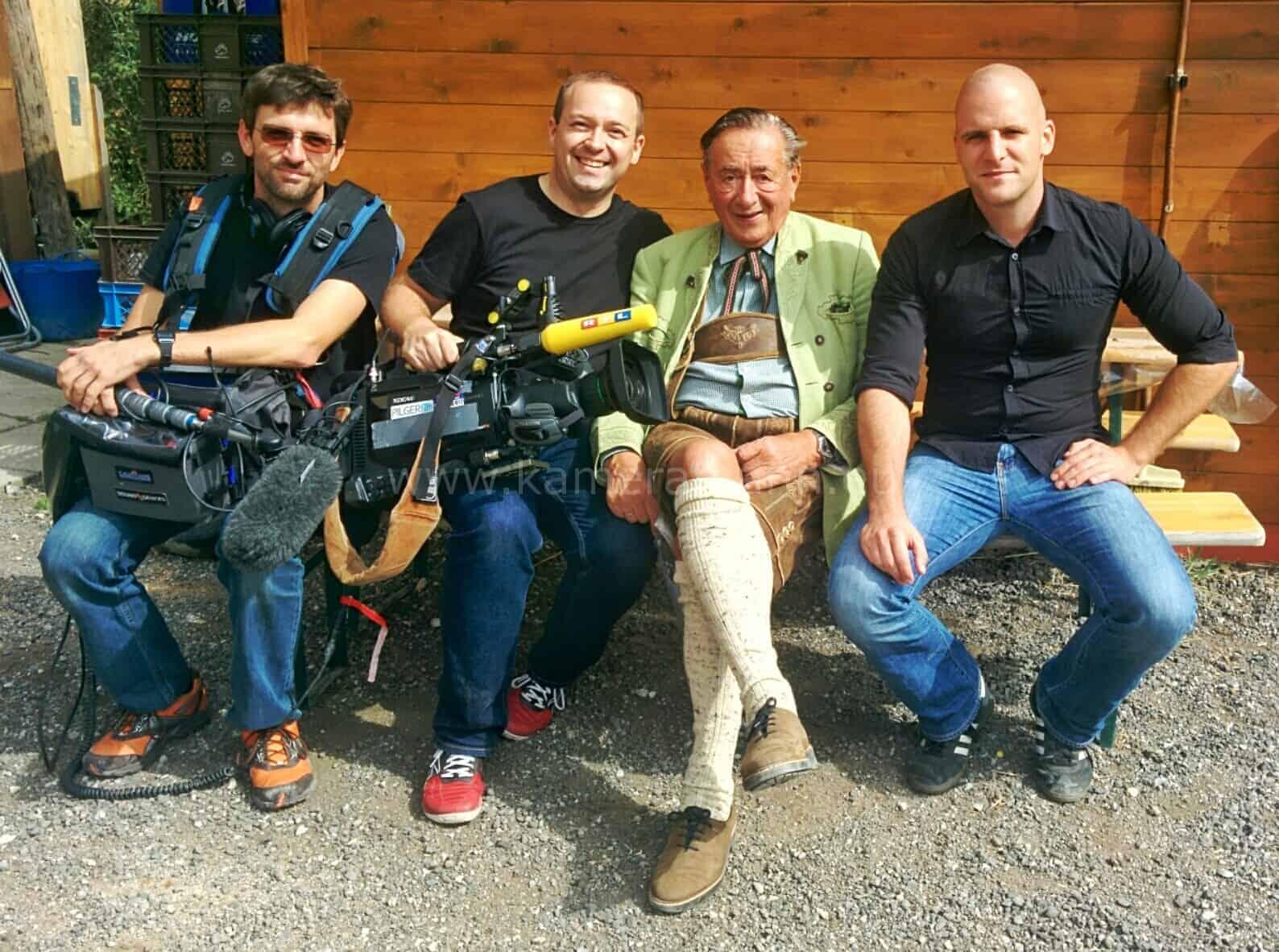 andreas felder mit richard lugner - RTL -  Dreharbeiten mit Cathy und Richard Lugner