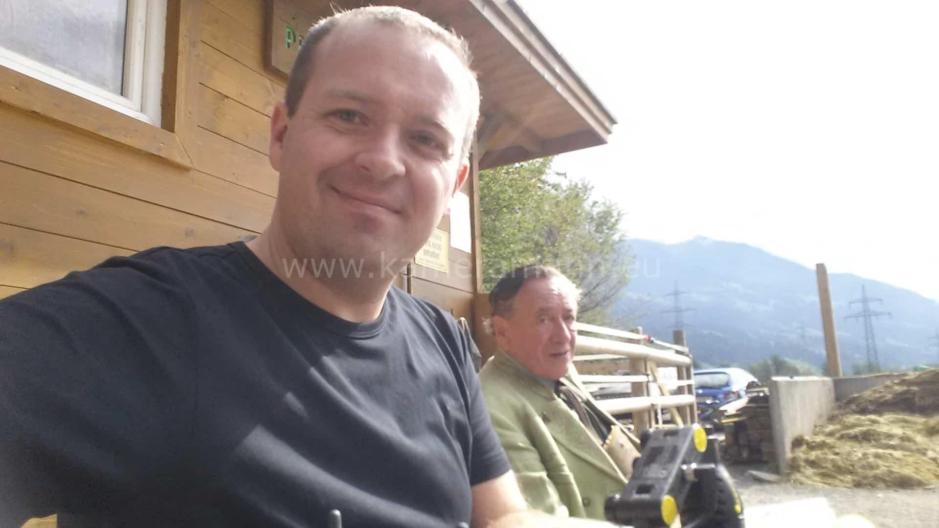 andreas und herr lugner - RTL -  Dreharbeiten mit Cathy und Richard Lugner