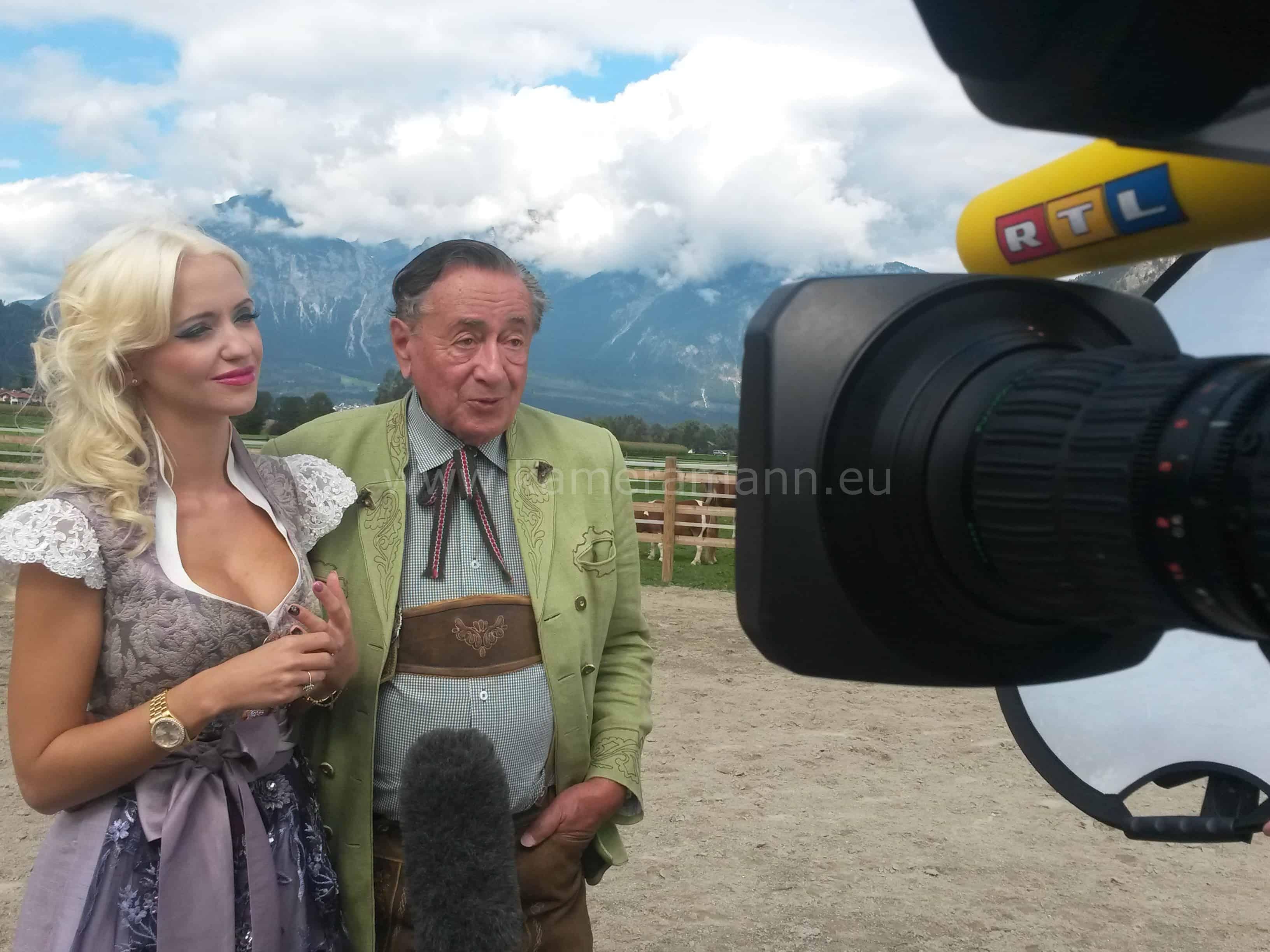 cathy und richard lugner - RTL -  Dreharbeiten mit Cathy und Richard Lugner
