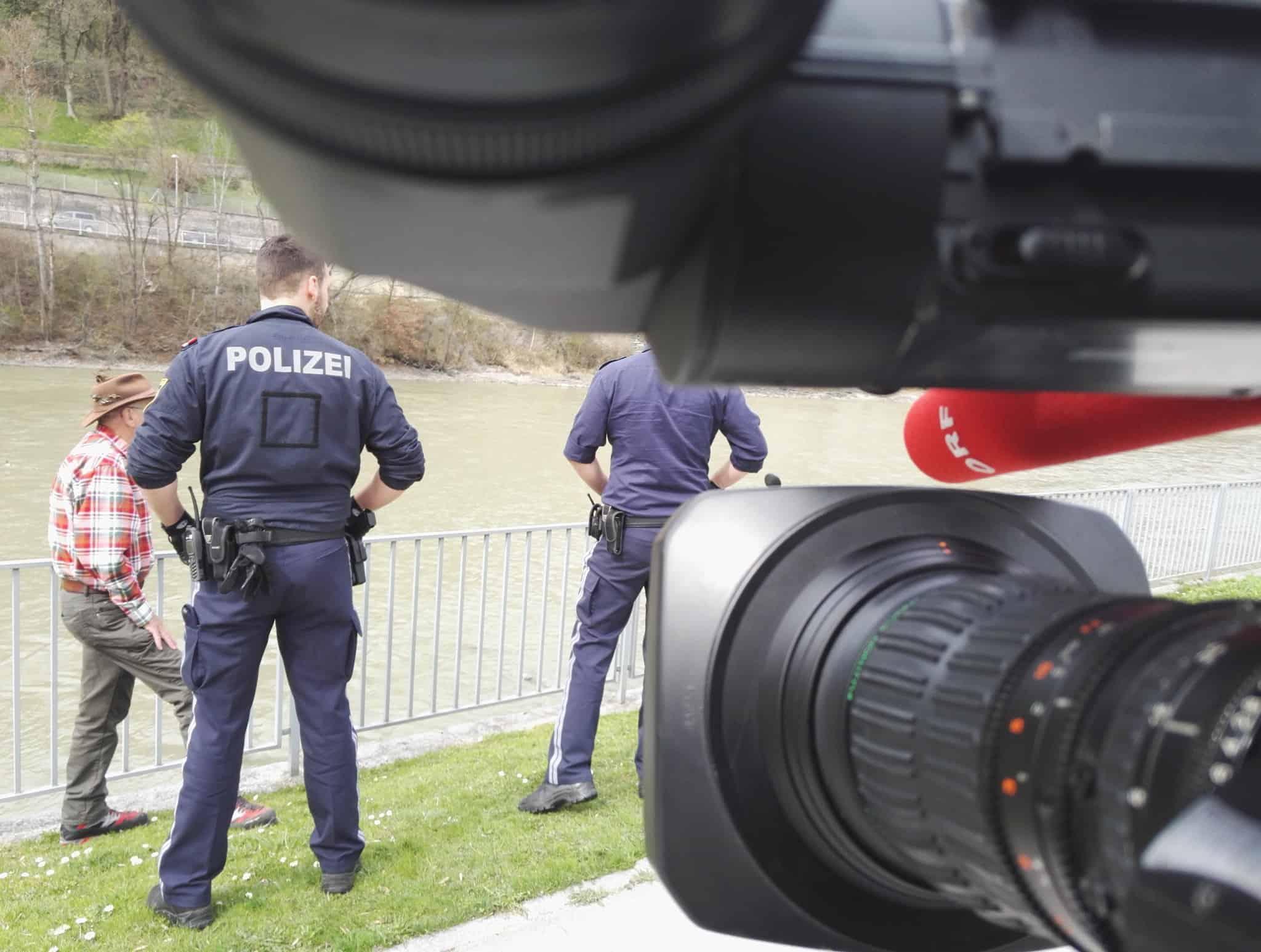 Polizeieinsatz vor laufender Kamera