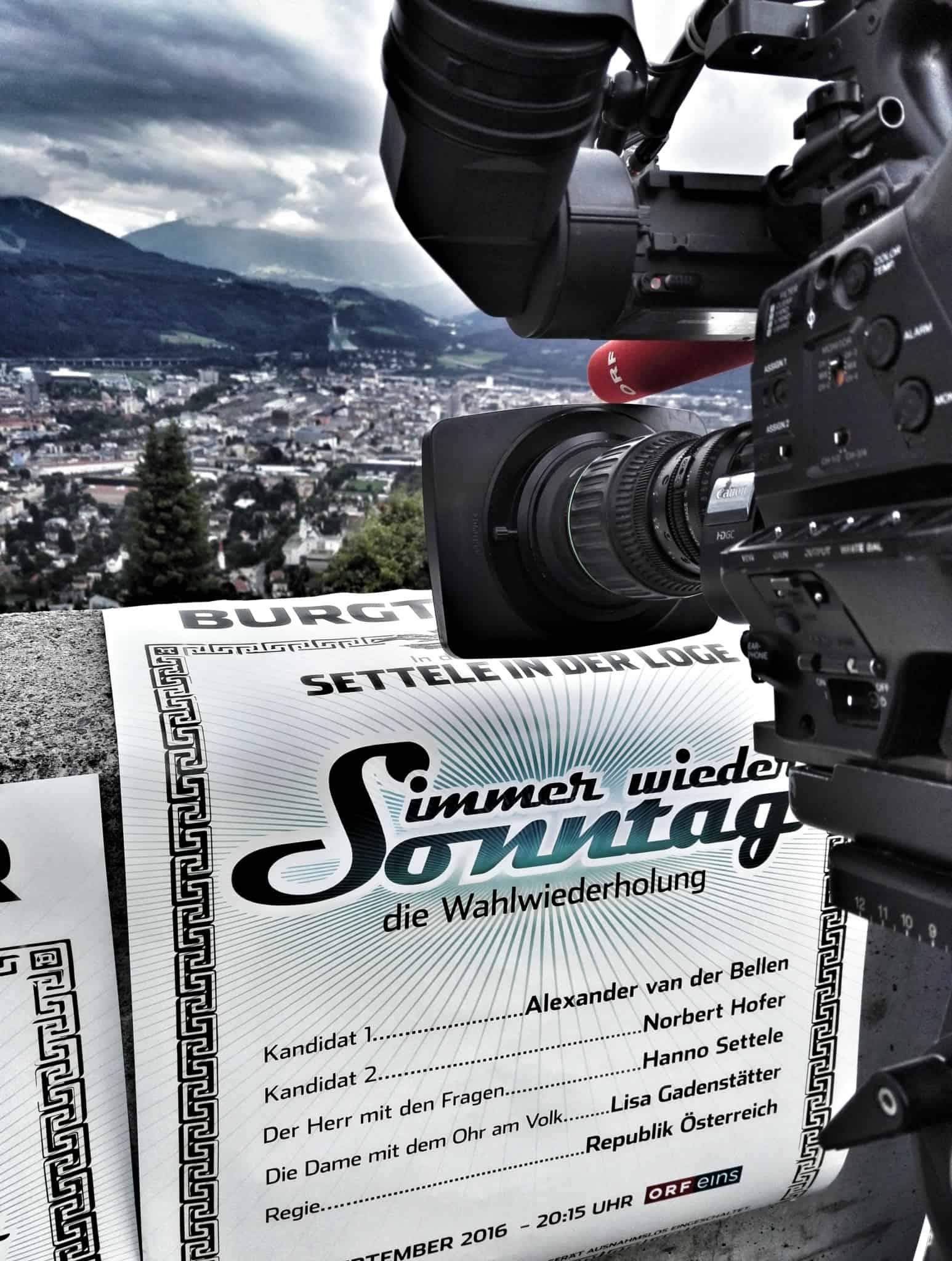 """orf wahlfahrt hanno settele  - ORF """"Die Wahlwiederholung – immer wieder Sonntag"""""""