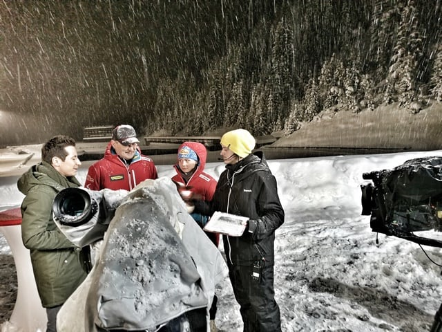 Andreas Felder Dreharbeiten 02 12 2 - ORF - Guten Morgen Österreich - Kitzbühel