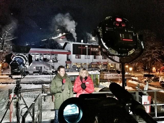Andreas Felder Dreharbeiten 02 16 2 - ORF - Guten Morgen Österreich - Kitzbühel