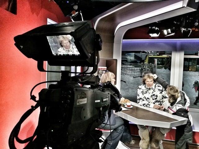 Andreas Felder Dreharbeiten 02 17 2 - ORF - Guten Morgen Österreich - Kitzbühel