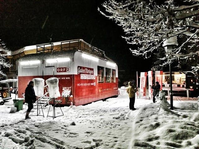 Andreas Felder Dreharbeiten 02 6 2 - ORF - Guten Morgen Österreich - Kitzbühel