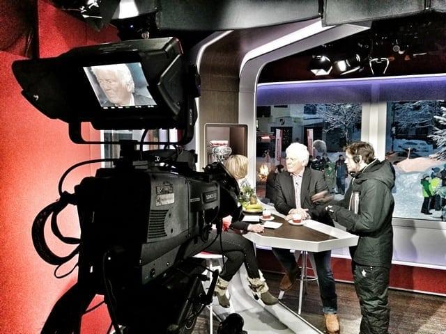 Andreas Felder Dreharbeiten 02 8 2 - ORF - Guten Morgen Österreich - Kitzbühel